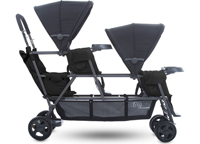 Big Caboose Graphite Sit And Stand Stroller