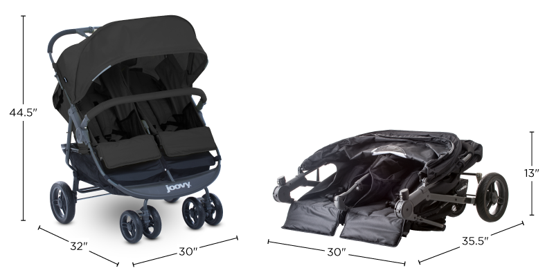 Joovy Scooter X Double Stroller Car Seat